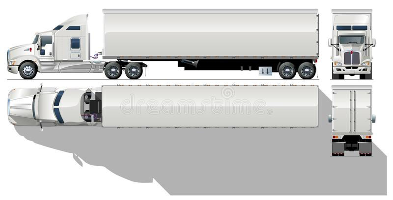 Vector ladings semi-vrachtwagen vector illustratie