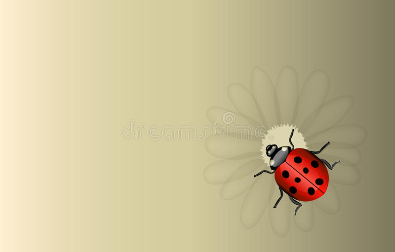 Download Vector Ladybug And Daisy Background Stock Vector - Image: 31052892