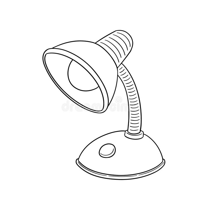 Vector of lamp. Hand drawn cartoon, doodle illustration vector illustration
