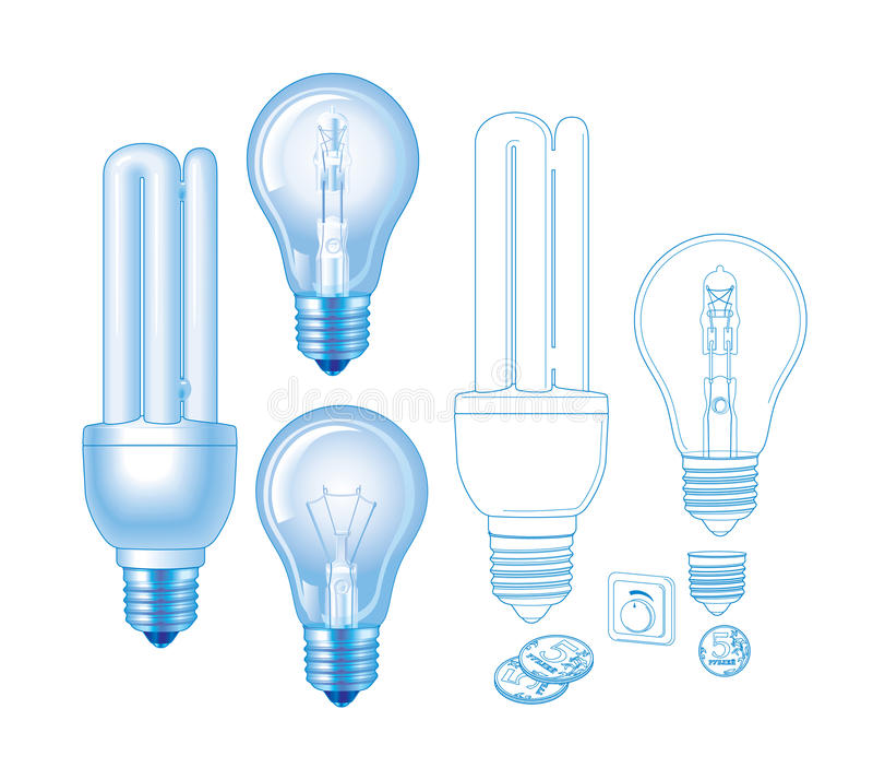 Vector lamp royalty free stock images