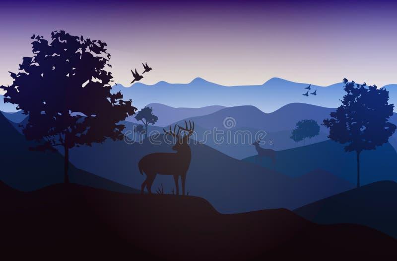 Vector_Landscape_02 lizenzfreies stockbild