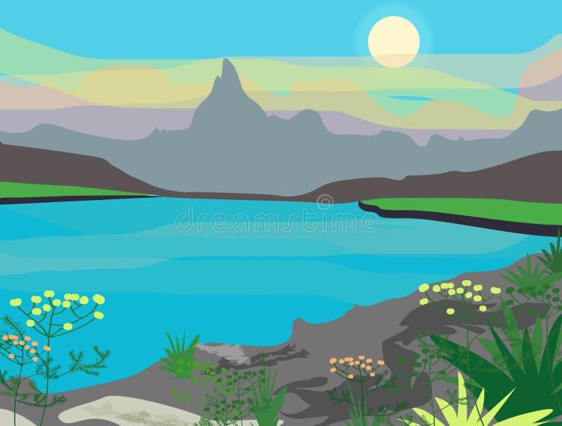 Vector landscape royalty free illustration