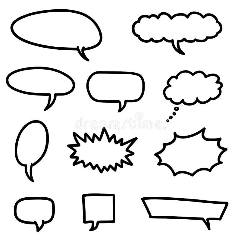 Vector las burbujas del discurso stock de ilustración