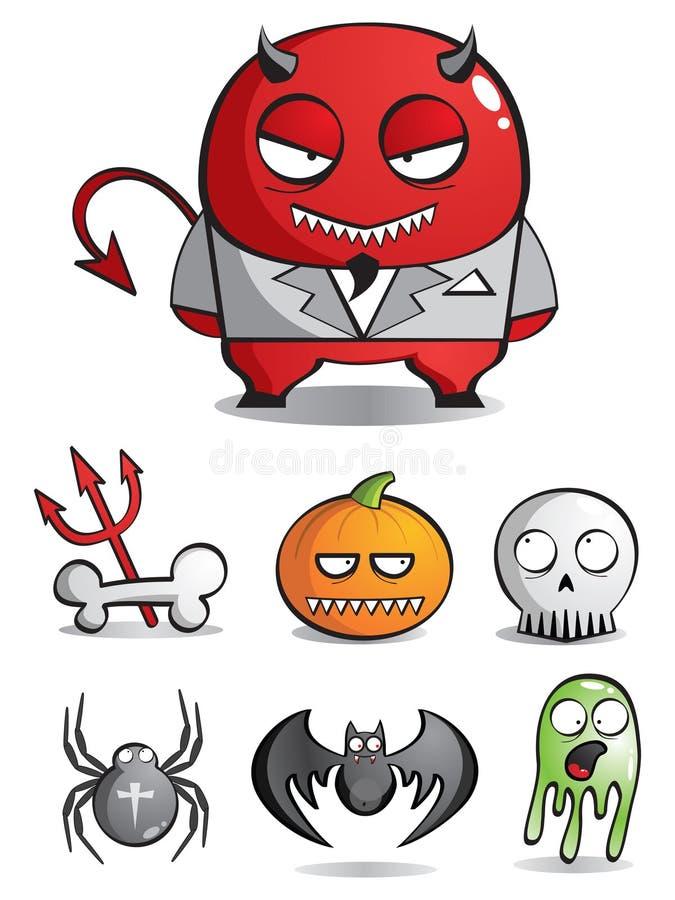 Vector las caricaturas de monstruos ilustración del vector