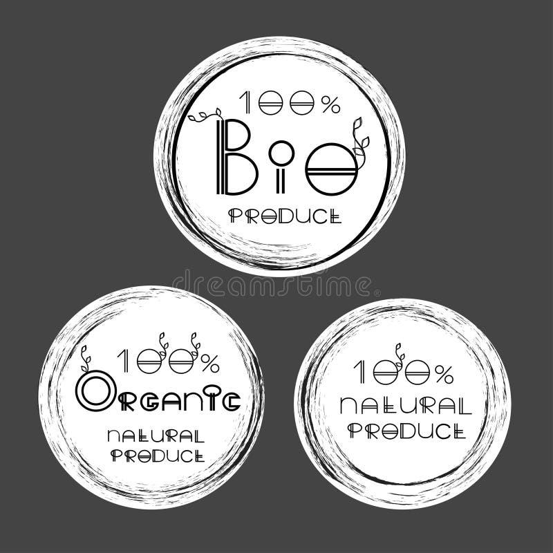 Vector las etiquetas del eco del producto natural orgánico, bio ilustración del vector