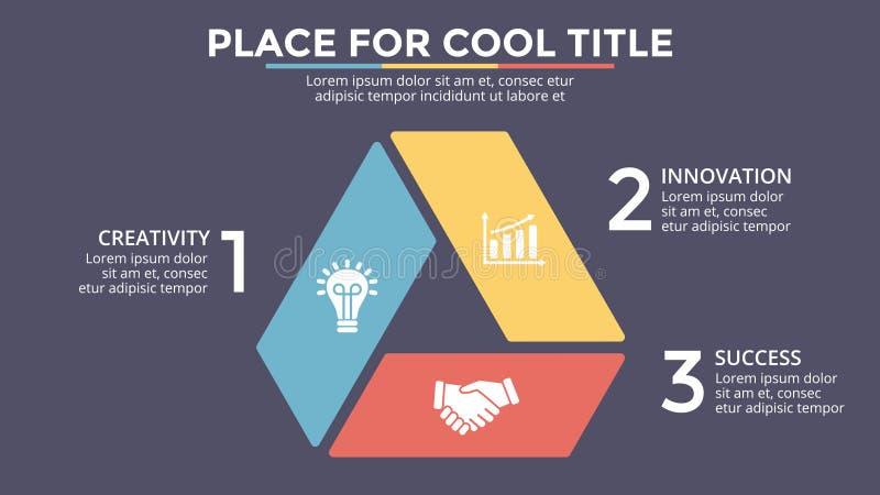 Vector las flechas infographic, diagrama del ciclo, gráfico del triángulo, carta del círculo de la presentación Concepto del nego libre illustration