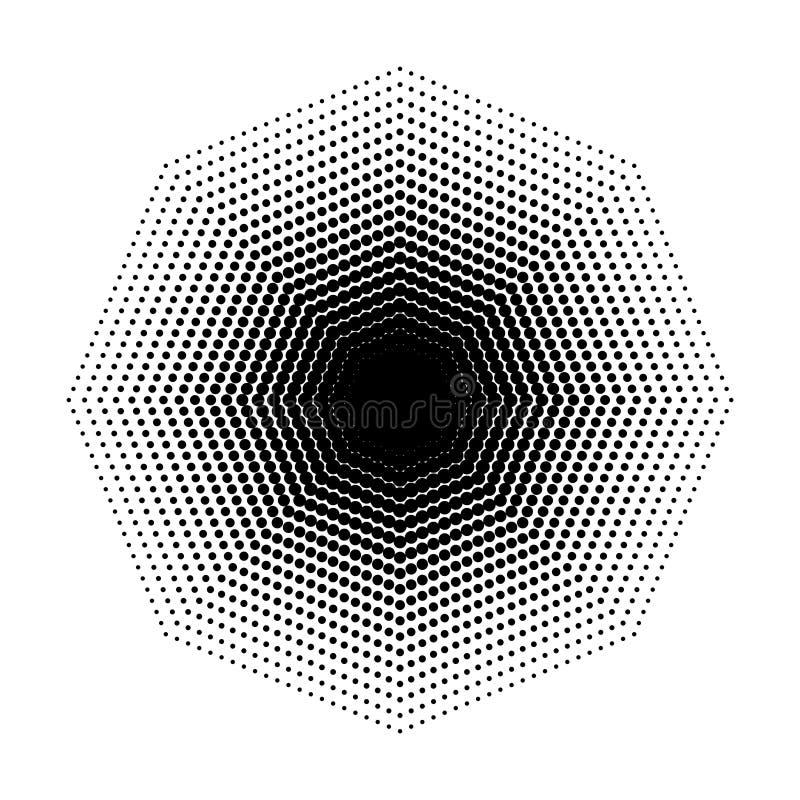 Vector las formas geométricas de semitono del octágono, arte del fondo del extracto del diseño del punto libre illustration