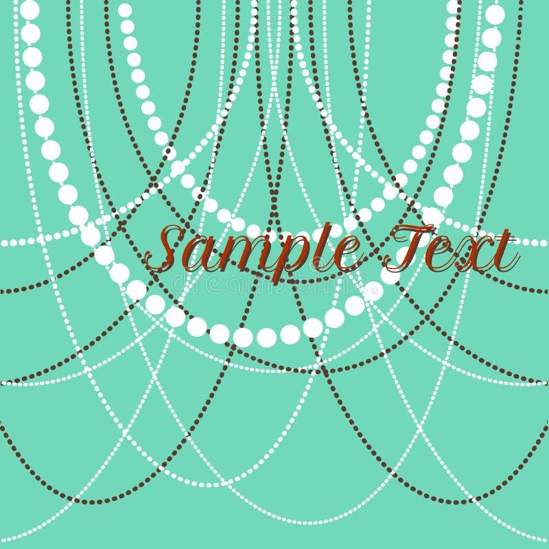 Vector las gotas delicadas de la perla para los fondos, tarjetas stock de ilustración