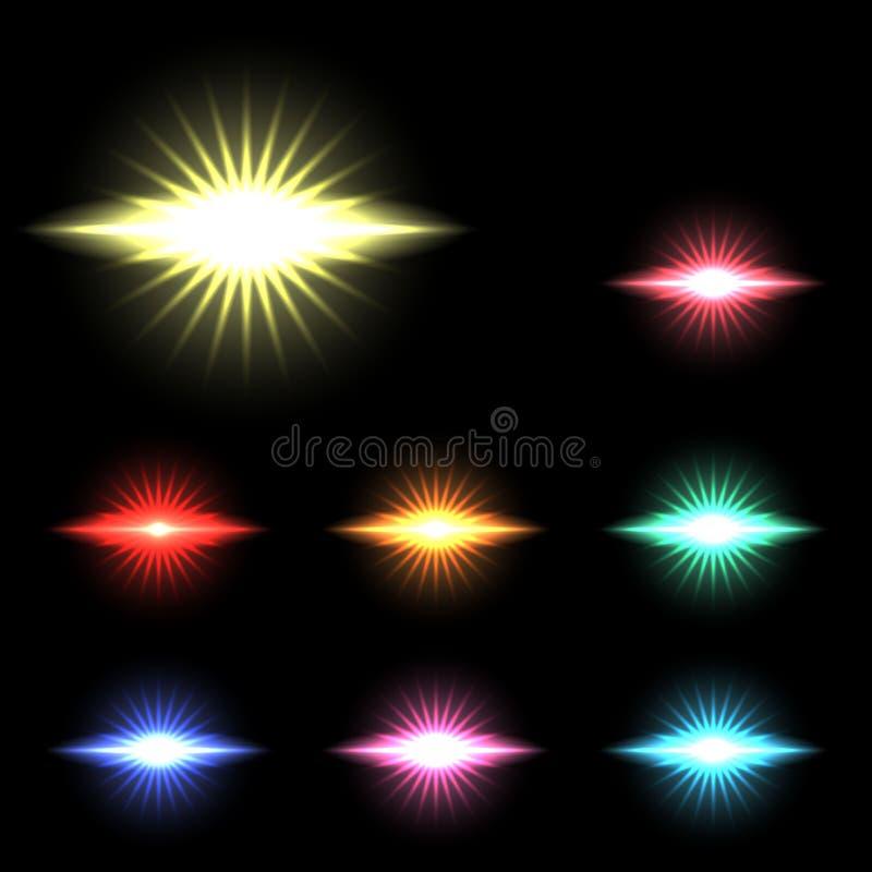 Vector las luces, las estrellas y las chispas que brillan intensamente 11 libre illustration
