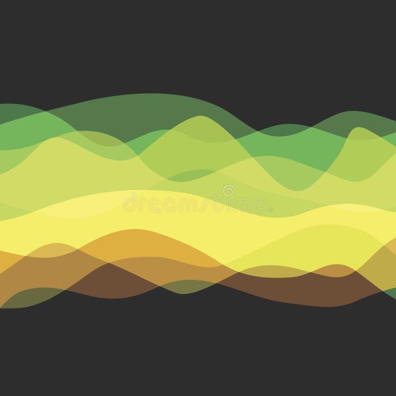 Vector las ondas abstractas libre illustration