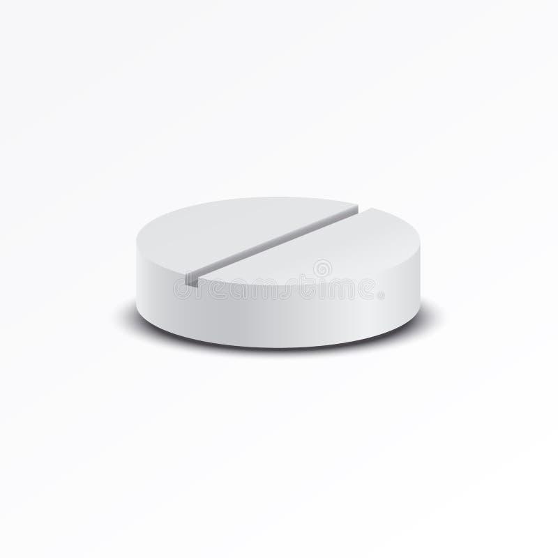 Vector las píldoras médicas realistas aisladas en el fondo blanco Ilustración común fotografía de archivo