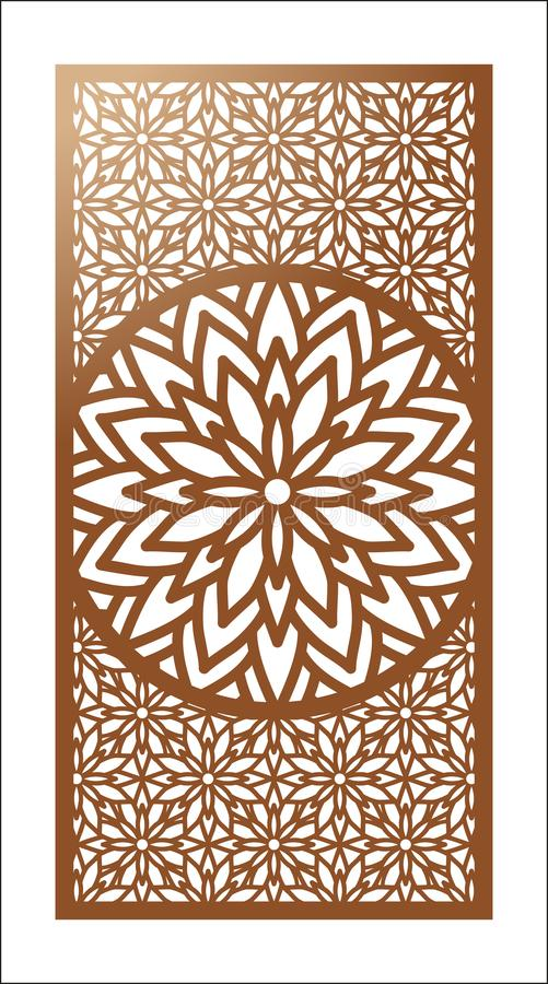 Vector Laser cut panel. Pattern template for decorative panel. W vector illustration