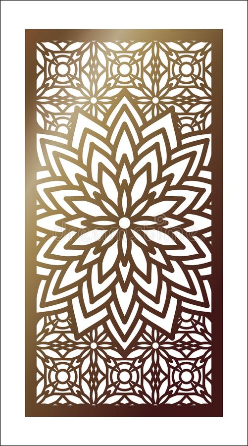 Download Vector Laser Cut Panel. Pattern Template For Decorative Panel. W  Stock Vector