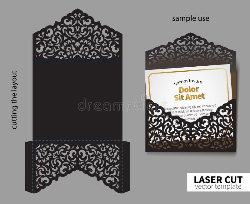 Vector laser cutting. royalty free illustration