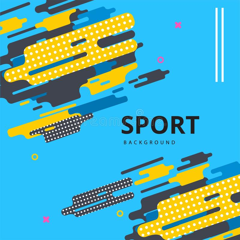 Abstract  Vector layout design template for sport event. Vector layout design template for sport event, for brochure, flyer, social media and any promotional stock illustration