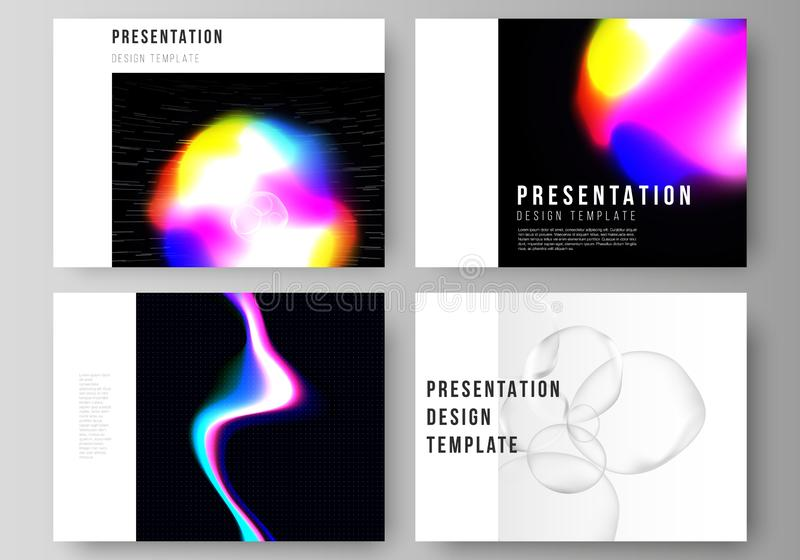 The vector layout of the presentation slides design business templates. SPA and healthcare design, sci-fi technology royalty free illustration