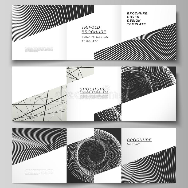 Vector layout of square format covers design templates for trifold brochure, flyer, magazine. Geometric abstract. Minimal vector layout of square format covers vector illustration