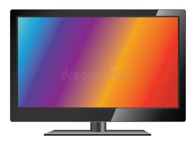 Vector lcd tv. LCD TV screen. LCD flat television vector illustration