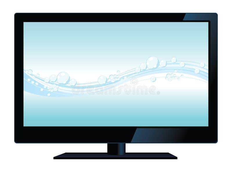 Vector lcd TV royalty-vrije illustratie