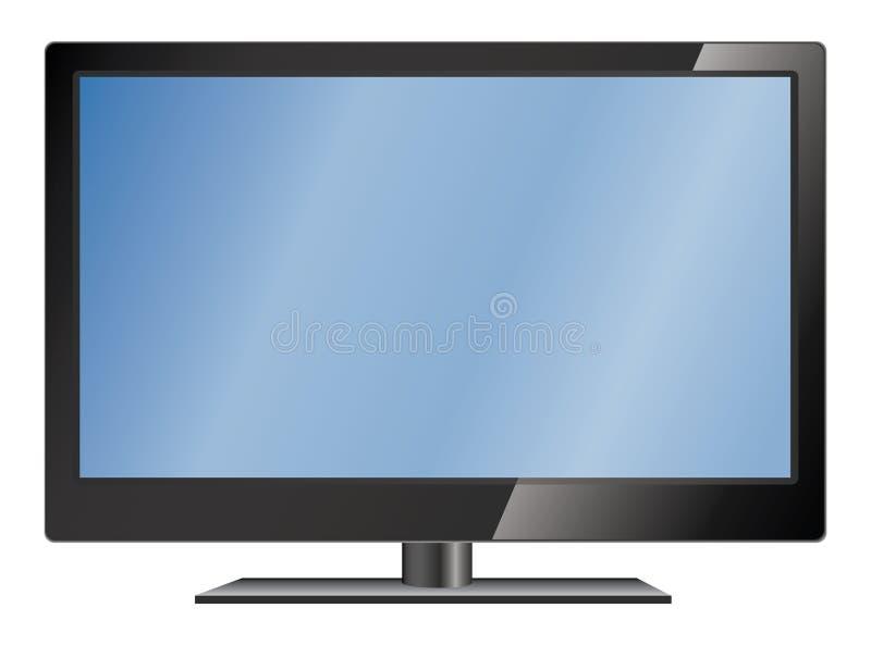 Vector lcd tv. LCD TV screen. LCD flat television stock illustration