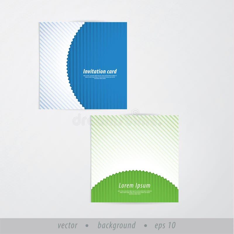 Download Vector Le Carte Di Carta Invito/della Presentazione Nel Retro Stile. SOF Illustrazione Vettoriale - Illustrazione di minimalistic, dentellato: 30831438
