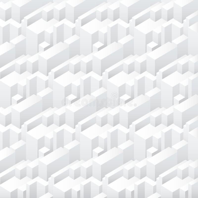 Vector le costruzioni semplici senza cuciture geometriche astratte dei grattacieli che ripetono il fondo del modello illustrazione vettoriale