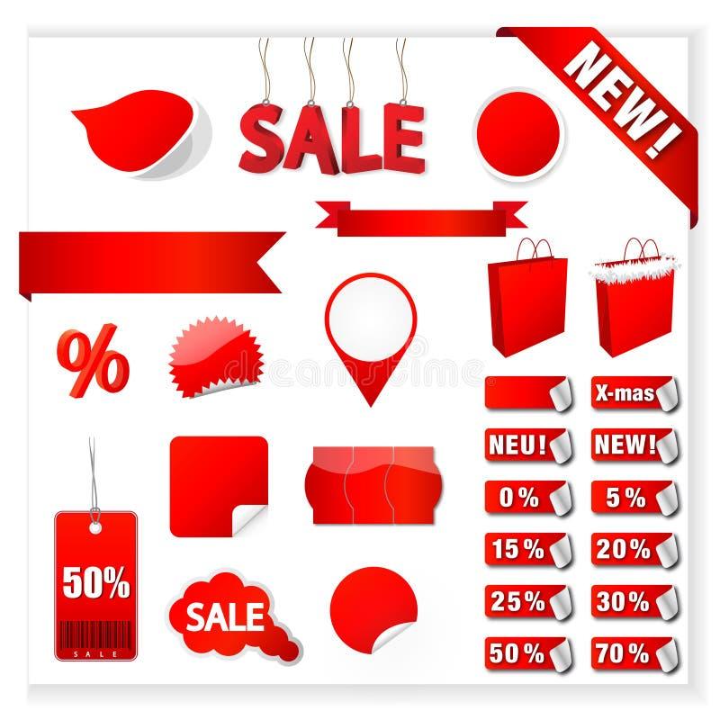 Vector le etichette di vendita illustrazione di stock