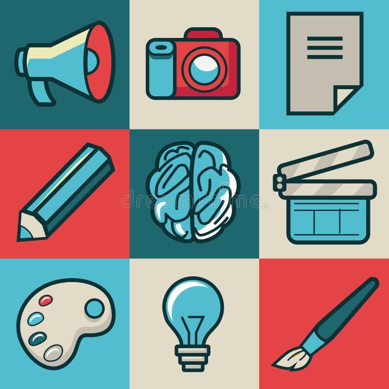 Icone creative di vettore illustrazione di stock