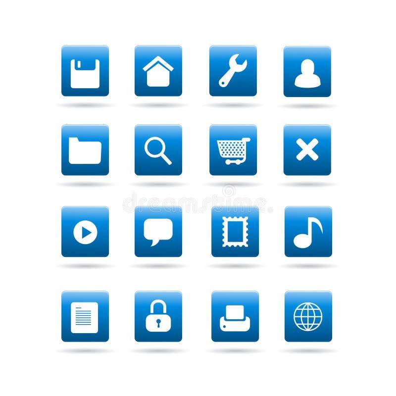 Vector le icone del tavolo del widget illustrazione vettoriale