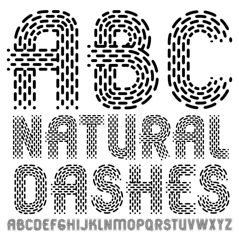 Vector le lettere maiuscole eleganti dell'alfabeto inglese, collecti di ABC royalty illustrazione gratis