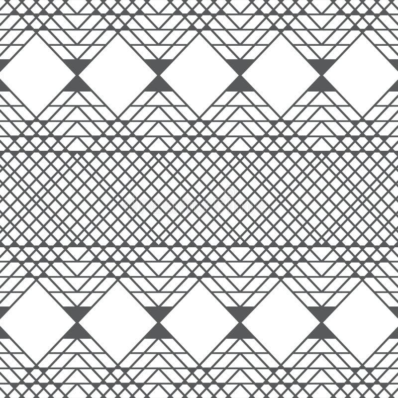 Vector le linee geometriche quadrate fondo del modello con grey di colore illustrazione di stock