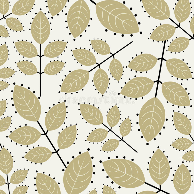Vector leaf wallpaper stock illustration