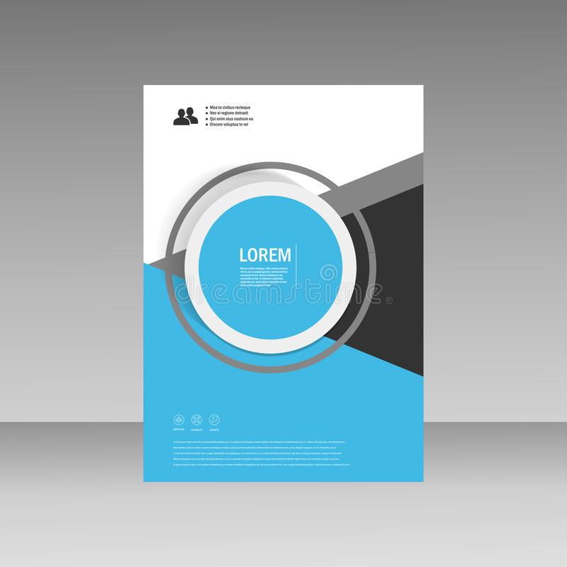Vector Leaflet Brochure Flyer template A4 size design, annual report, book cover layout design, abstract cover design.  royalty free illustration