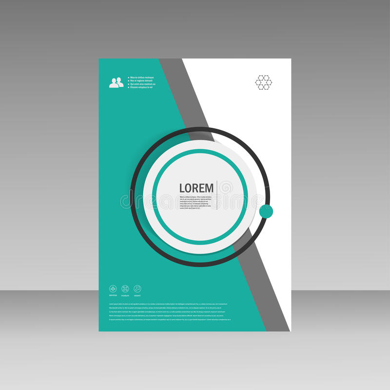 Vector Leaflet Brochure Flyer template A4 size design, annual report, book cover layout design, abstract cover design stock illustration