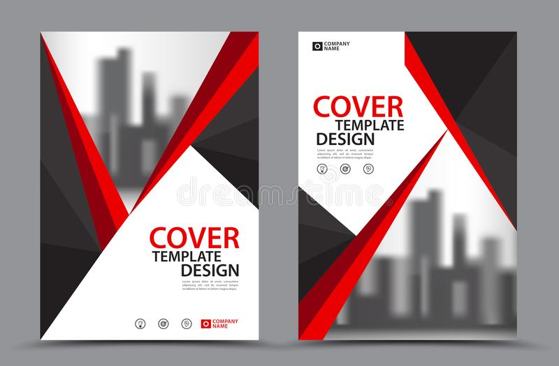 Vector Leaflet Brochure Flyer template royalty free illustration