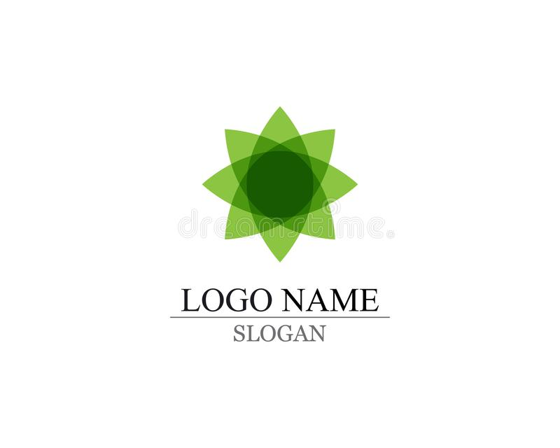 Vector leaves green nature logo and symbol stock illustration