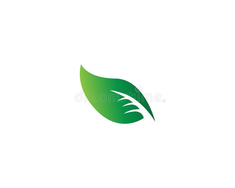 Vector leaves green nature logo template symbol. Vector leaves green nature logo template symbol stock illustration