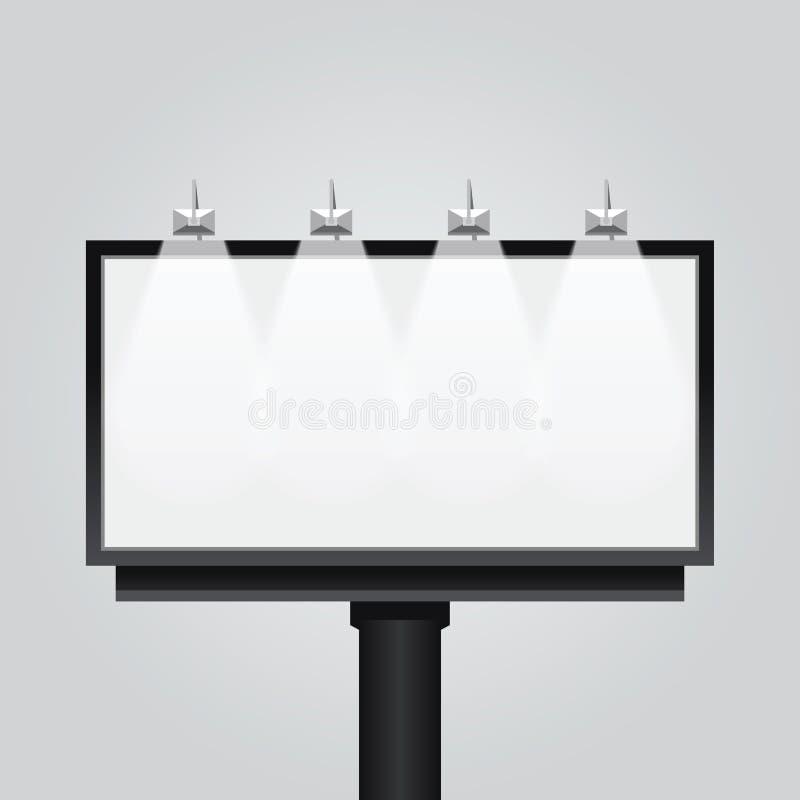 Vector leeg aanplakbordteken, uithangbord, moderne banner, vector illustratie