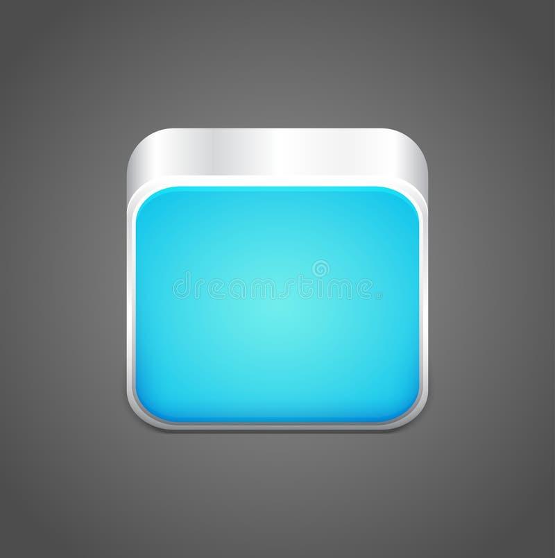 Vector leeg blauw app pictogram stock illustratie
