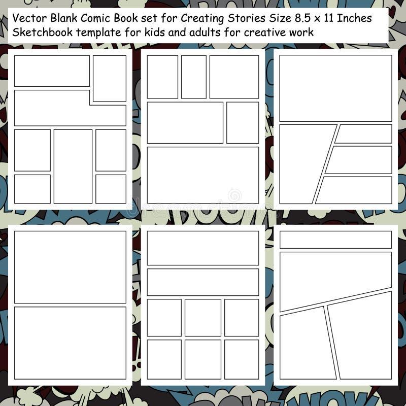 Vector Leeg Grappig die Boek voor het Creëren van Verhalen wordt geplaatst royalty-vrije illustratie