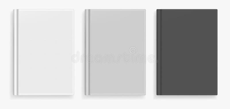 Vector leeg zwart-wit realistisch boekmodel vector illustratie