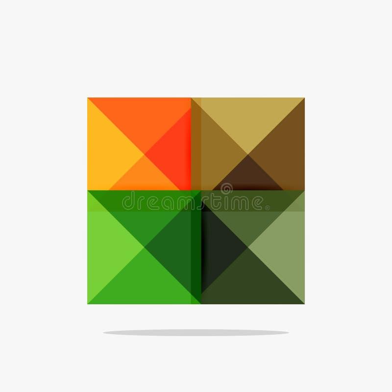 Vector lege abstracte vierkantenachtergrond royalty-vrije illustratie