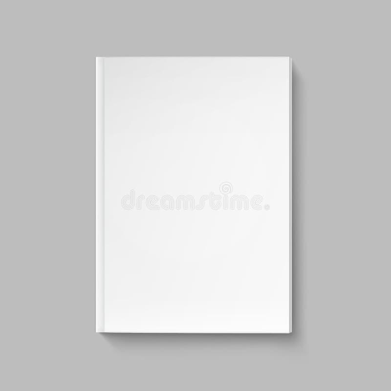Vector Lege Dekking voor Boek of Tijdschriftmalplaatje stock afbeelding