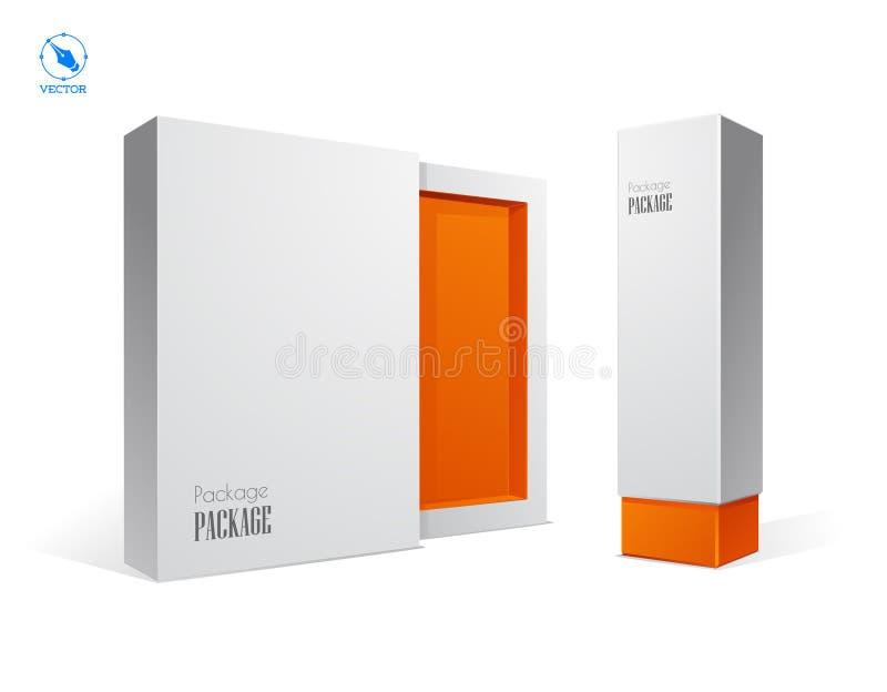 Vector lege doos op witte achtergrond royalty-vrije illustratie