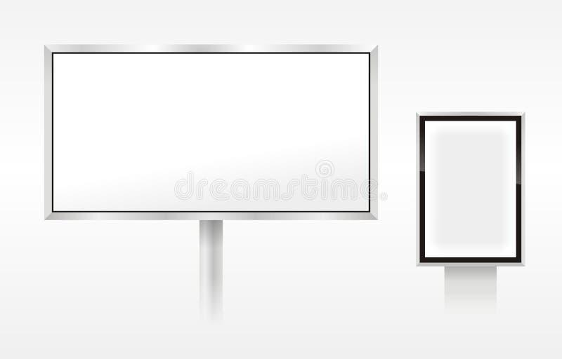 Vector lege openluchtaanplakborden royalty-vrije stock foto