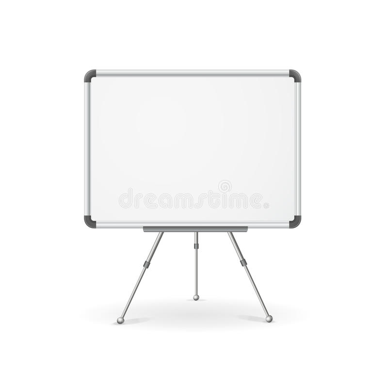 Vector lege whiteboard stock illustratie
