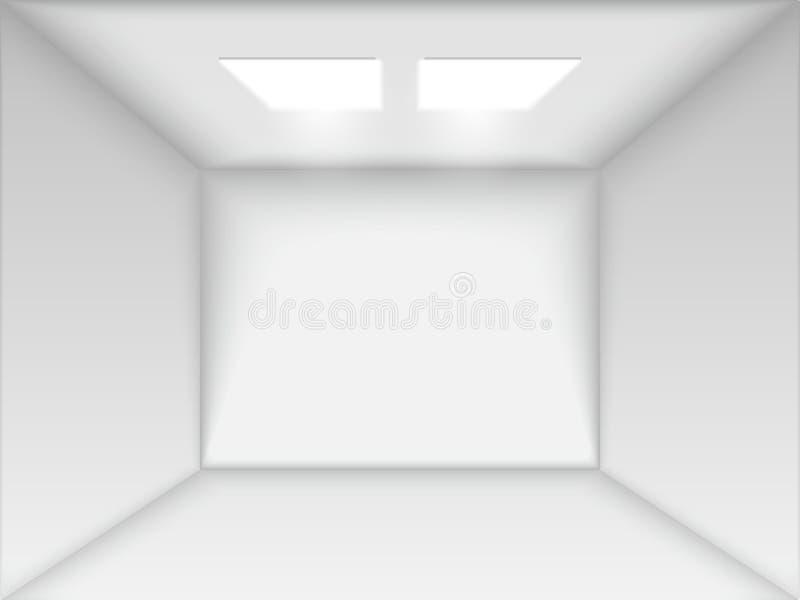 Vector lege witte ruimte stock illustratie