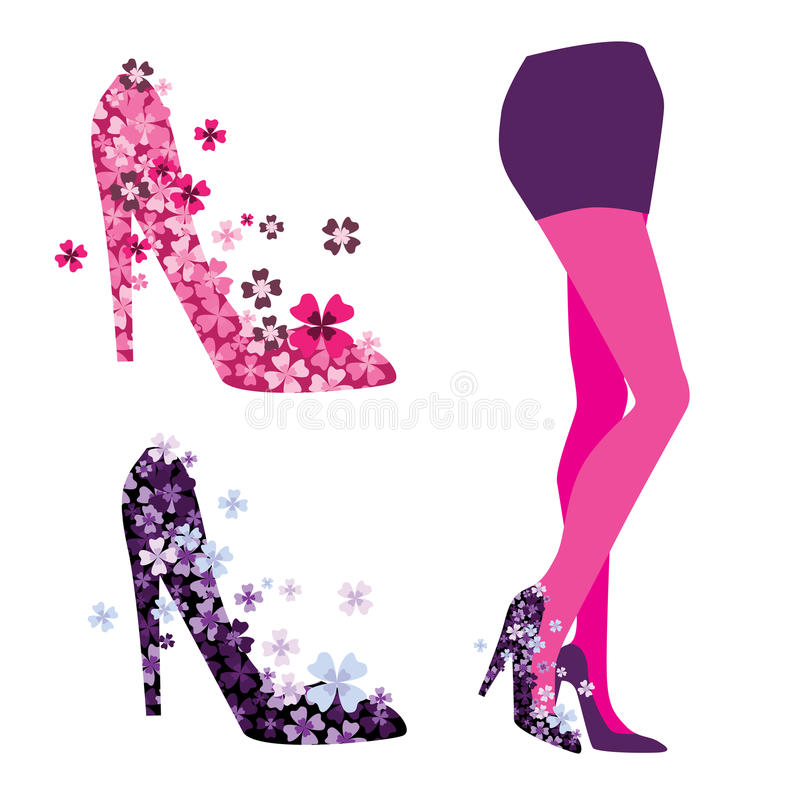 Download Vector Of The Legs, Shoes Stock Image - Image: 25353341