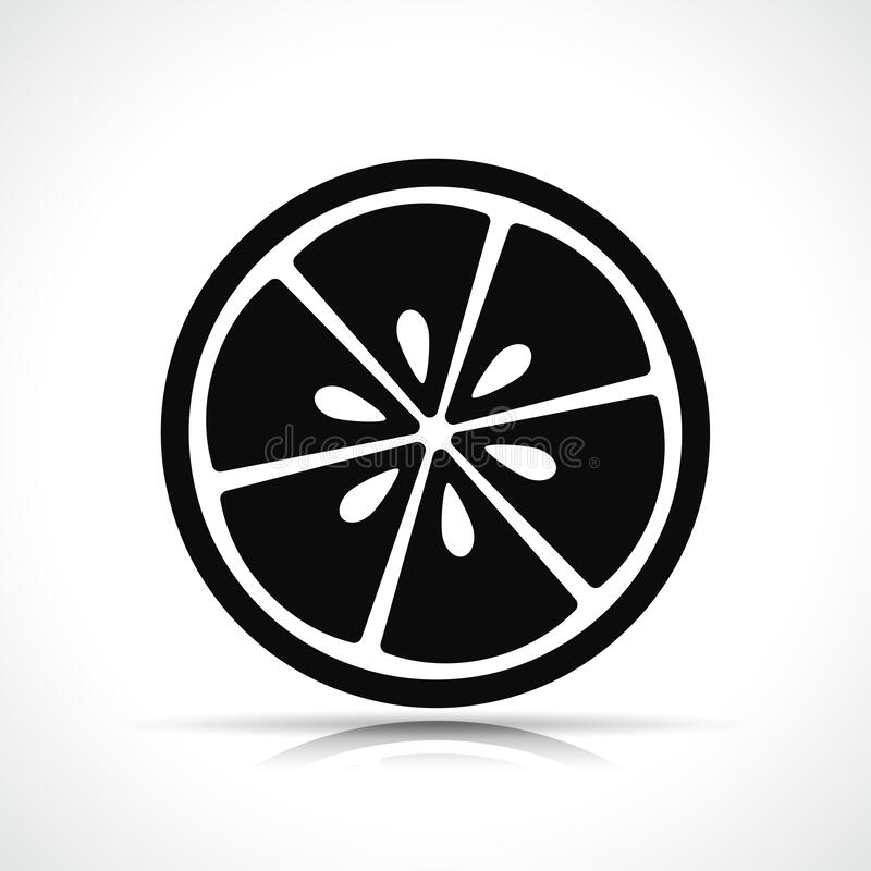 Free Vector Lemon Slice Black Icon Stock Image - 172657381