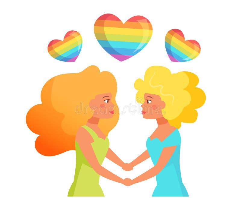 Vector lesbiano de los pares libre illustration